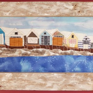 Beach Huts in the Snow framed