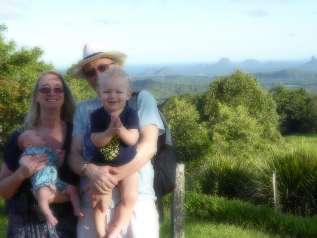 Us in Australia with the Grandsons